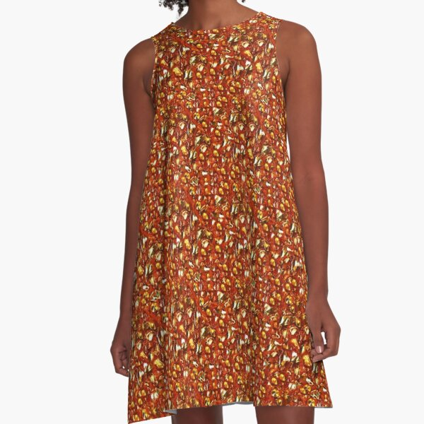 Red Glittering Sequins and Bling |  Red Sequin Fabric | 70s Disco Inspired A-Line Dress