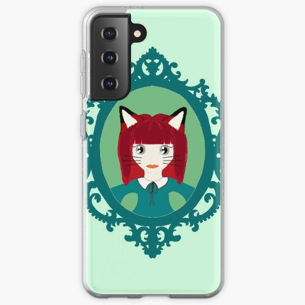 Kawaii Fox Cosplay Girl Samsung Galaxy Soft Case