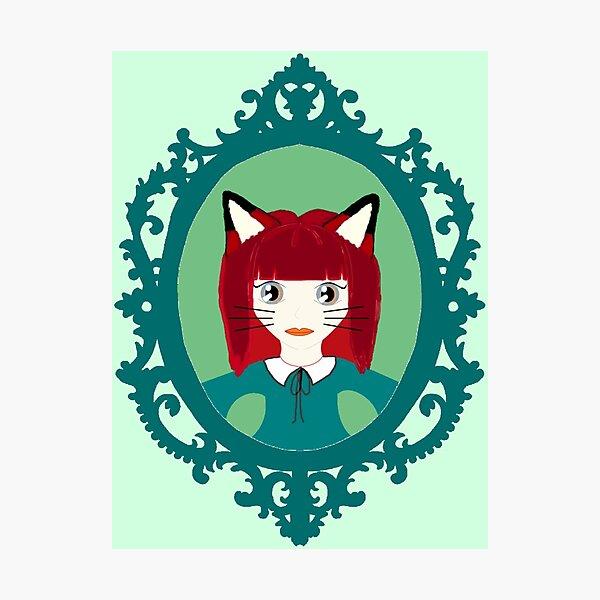 Kawaii Fox Cosplay Girl Photographic Print