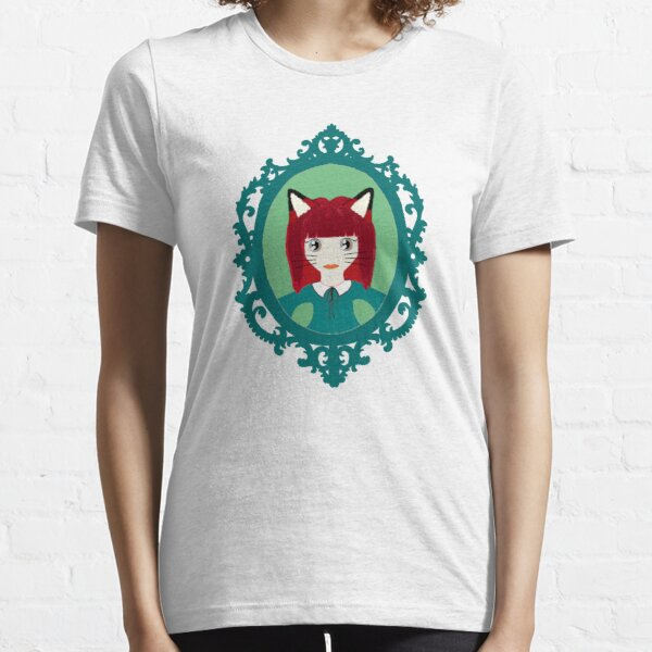 Kawaii Fox Cosplay Girl Essential T-Shirt