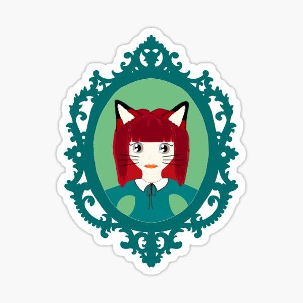 Kawaii Fox Cosplay Girl Sticker