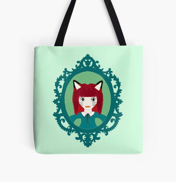 Kawaii Fox Cosplay Girl All Over Print Tote Bag