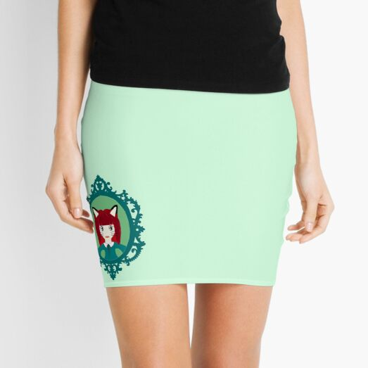 Kawaii Fox Cosplay Girl Mini Skirt