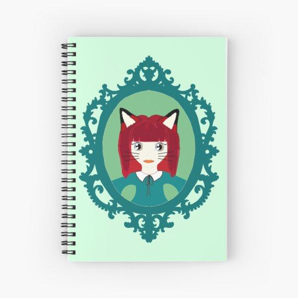 Kawaii Fox Cosplay Girl Spiral Notebook