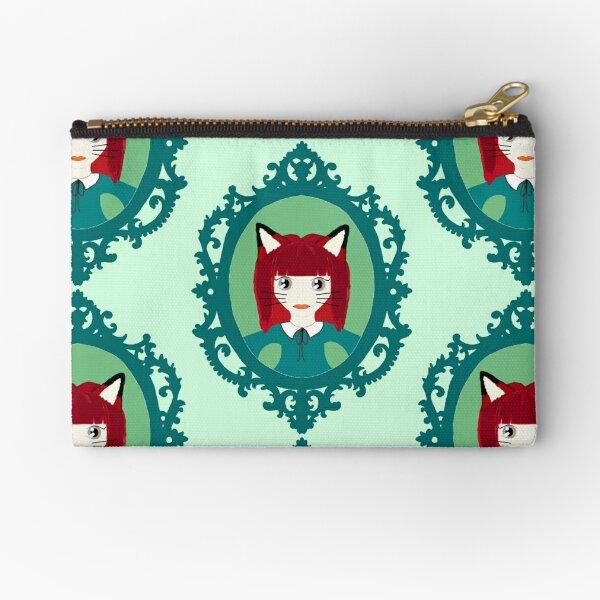 Kawaii Fox Cosplay Girl Zipper Pouch