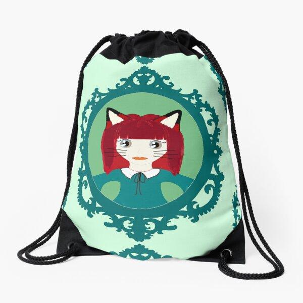 Kawaii Fox Cosplay Girl Drawstring Bag