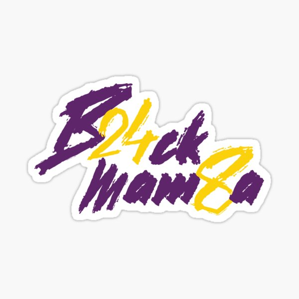Black Mamba 24 8 - Kobe Sticker