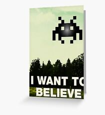 Funny gaming parody Greeting Card