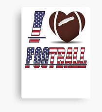 I love football Canvas Print
