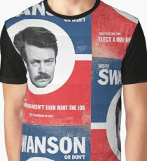 Vote For Ron Swanson Graphic T-Shirt