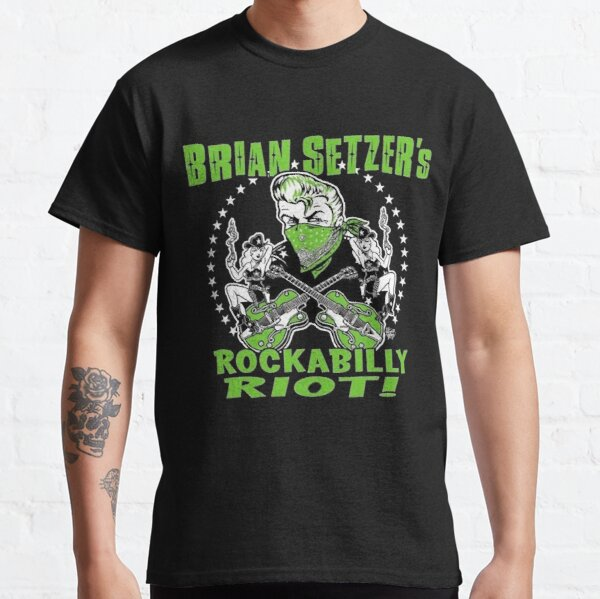 Brian Setzer Stray Cats Classic T-Shirt