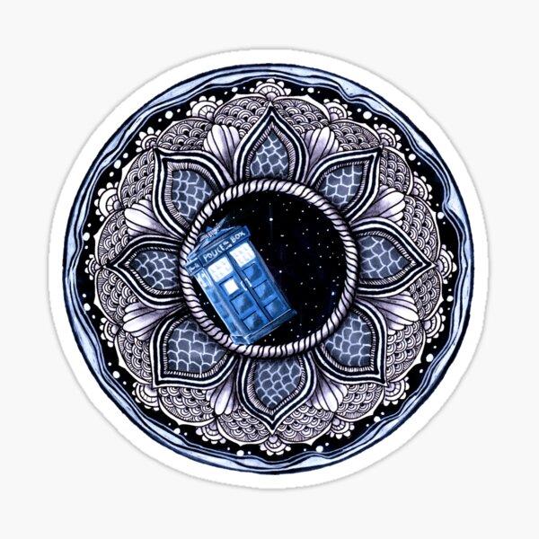 Tardis in space mandala Sticker