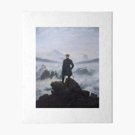 Caspar David Friedrich - The Wanderer above the Sea of Fog Art Board Print