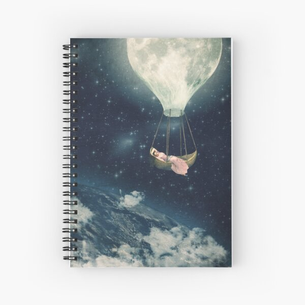 The Moon Carries Me Away Spiral Notebook