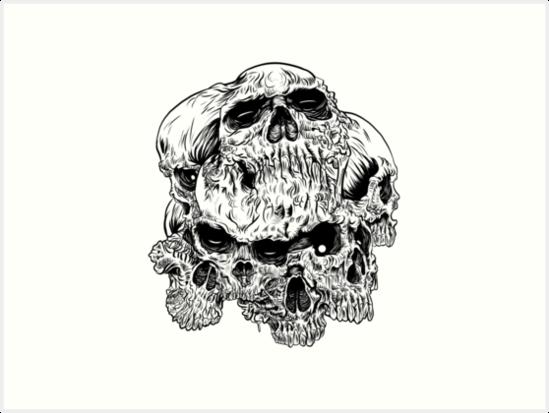 heartless skulls by HeartlessArts
