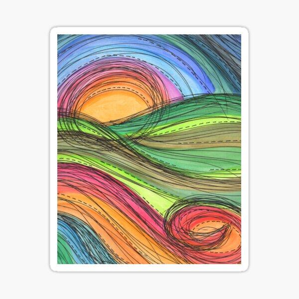 Rainbow Landscape Sticker