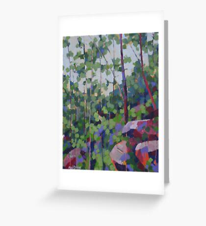 Trees & Rocks Greeting Card