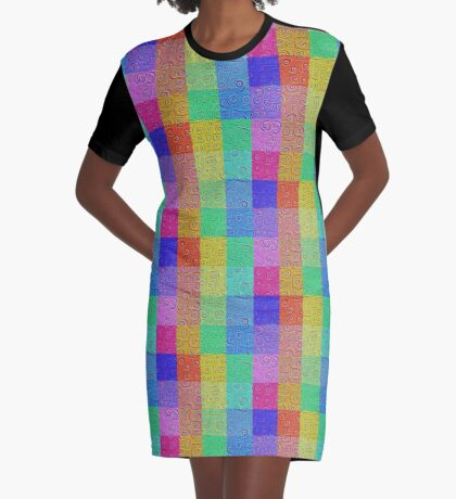Deep Dreaming of a Color World 2 Graphic T-Shirt Dress