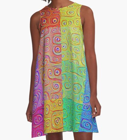 Deep Dreaming of a Color World 2 A-Line Dress