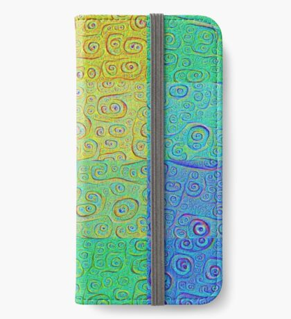 Deep Dreaming of a Color World 2 iPhone Wallet