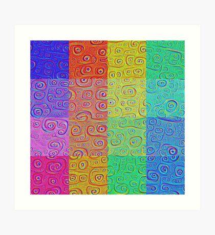 Deep Dreaming of a Color World 2 Art Print