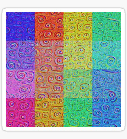 Deep Dreaming of a Color World 2 Sticker