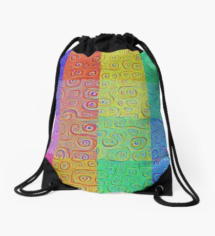 Deep Dreaming of a Color World 2 Drawstring Bag