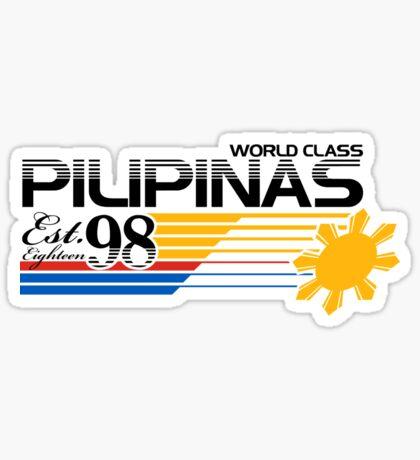 Pilipinas World Class Sticker