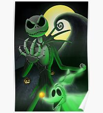 Nightmare Before Christmas Skellington Poster