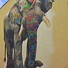 Elephant graffiti by heinrich