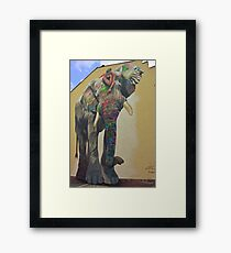 Elephant graffiti Framed Print