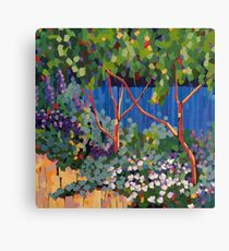 The Blue Fence Canvas Print