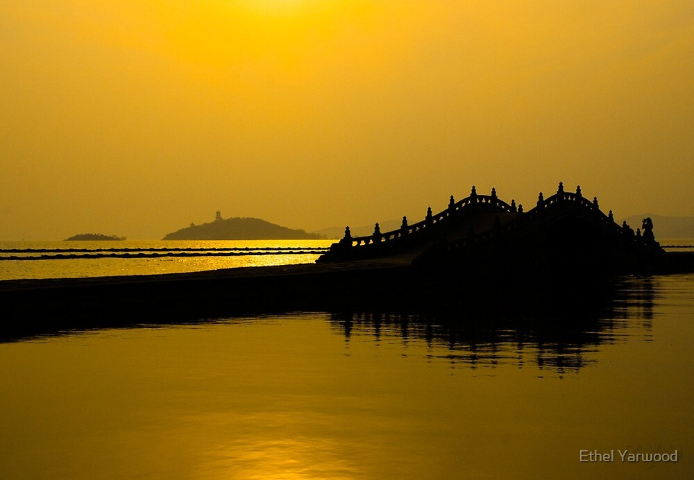 Taihu Lake, Wuxi, Jiangsu, China - 2014 by Ethel Yarwood
