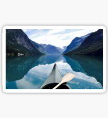 Norway canoe in fjord Sticker