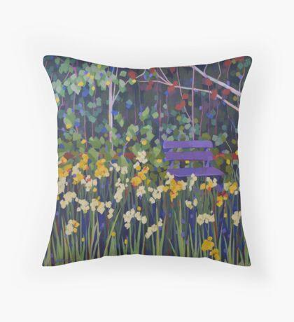 Spring Garden Throw Pillow