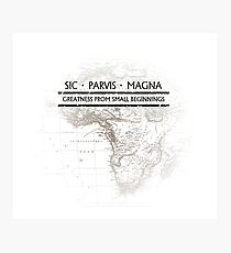 Uncharted - SIC PARVIS MAGNA Photographic Print