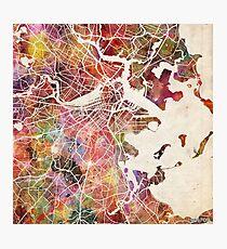 Boston map Photographic Print