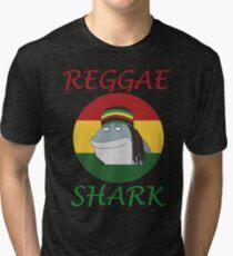 Reggae Shark Dreadlock Tri-blend T-Shirt