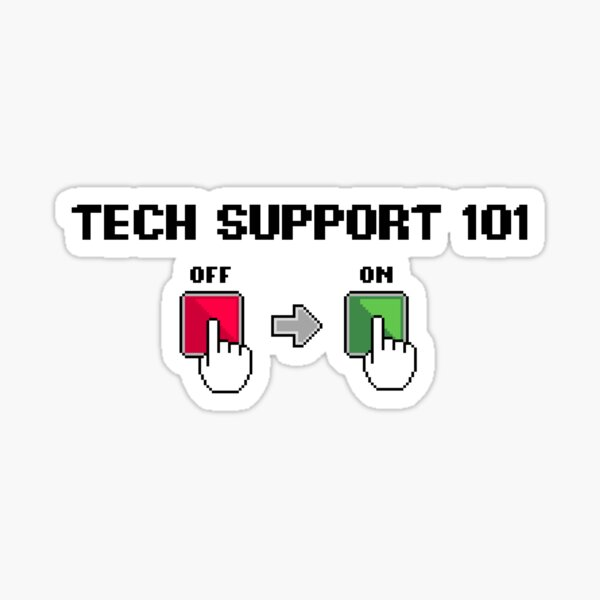 Pixel Art Tech Support 101 Sticker