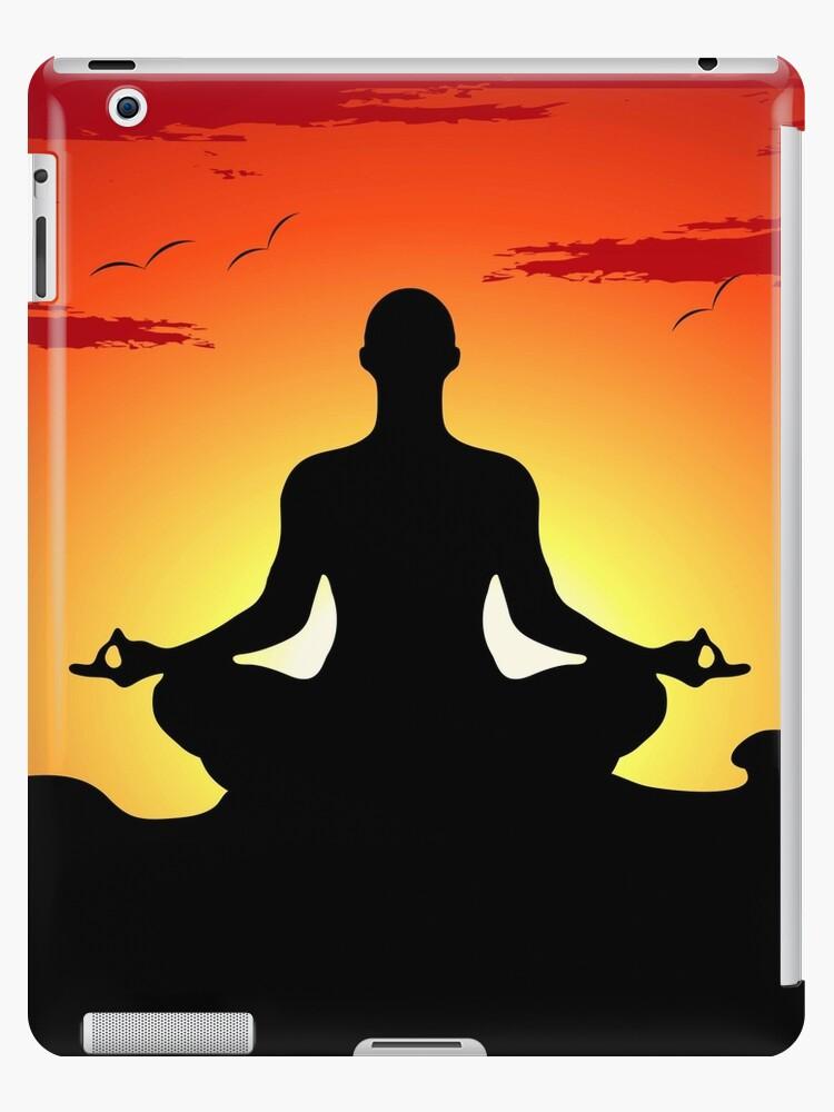 Male Yoga Meditating by CroDesign