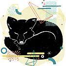 Sleeping Fox illustration by JannekeMeekes