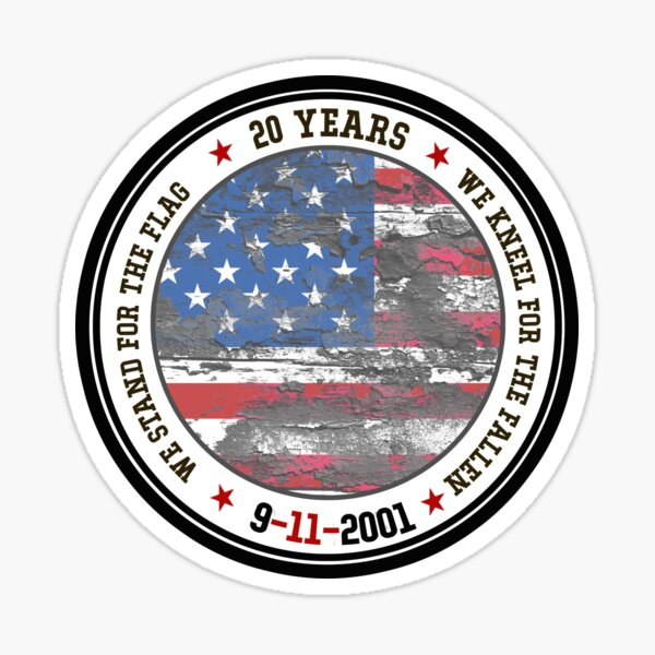 Distressed USA Flag, 9 11, 9-11, 9 11 memorial, 9 11 Never Forget, September 11, Memorial Day, 9-11 20th Anniversary, 2001 Terror Attacks, 911 Memorial NYC, New York Attacks Sticker