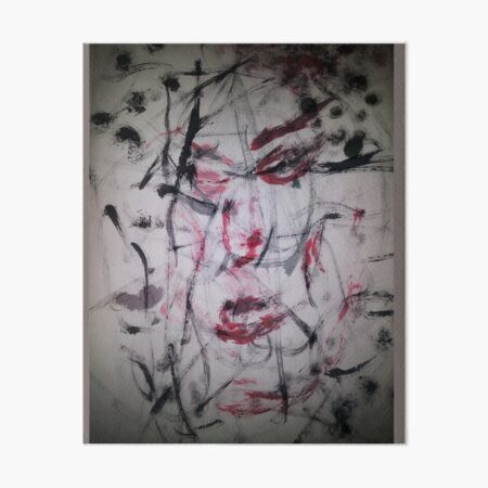 Abstract Faces Art Board Print