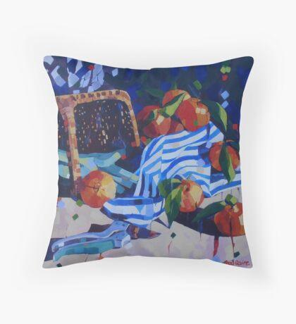 Early Morning Mandarins Throw Pillow