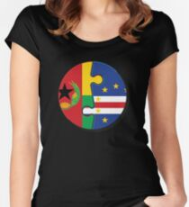 Cape Verdean Flag Transition  Fitted Scoop T-Shirt