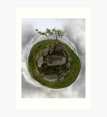 Tomb: Croaghbeg Court Tomb, Shalwy Valley, Donegal Art Print
