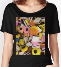I love Licorice retro halloween licorice candy  Women's Relaxed Fit T-Shirt