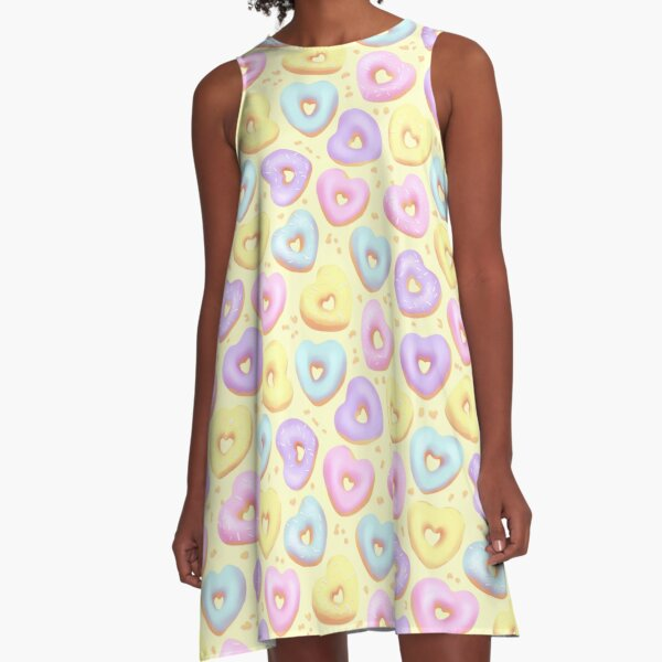 I Heart Donuts! A-Line Dress