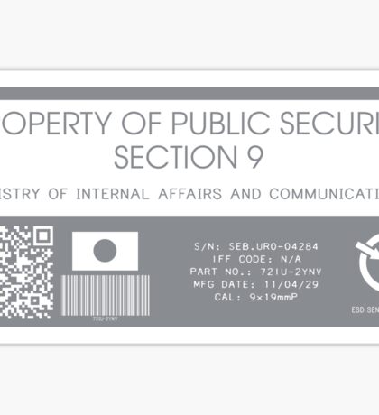 Property of Section 9 Sticker