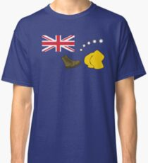 The Simpsons – Australian Flag, Boot, Australian Classic T-Shirt